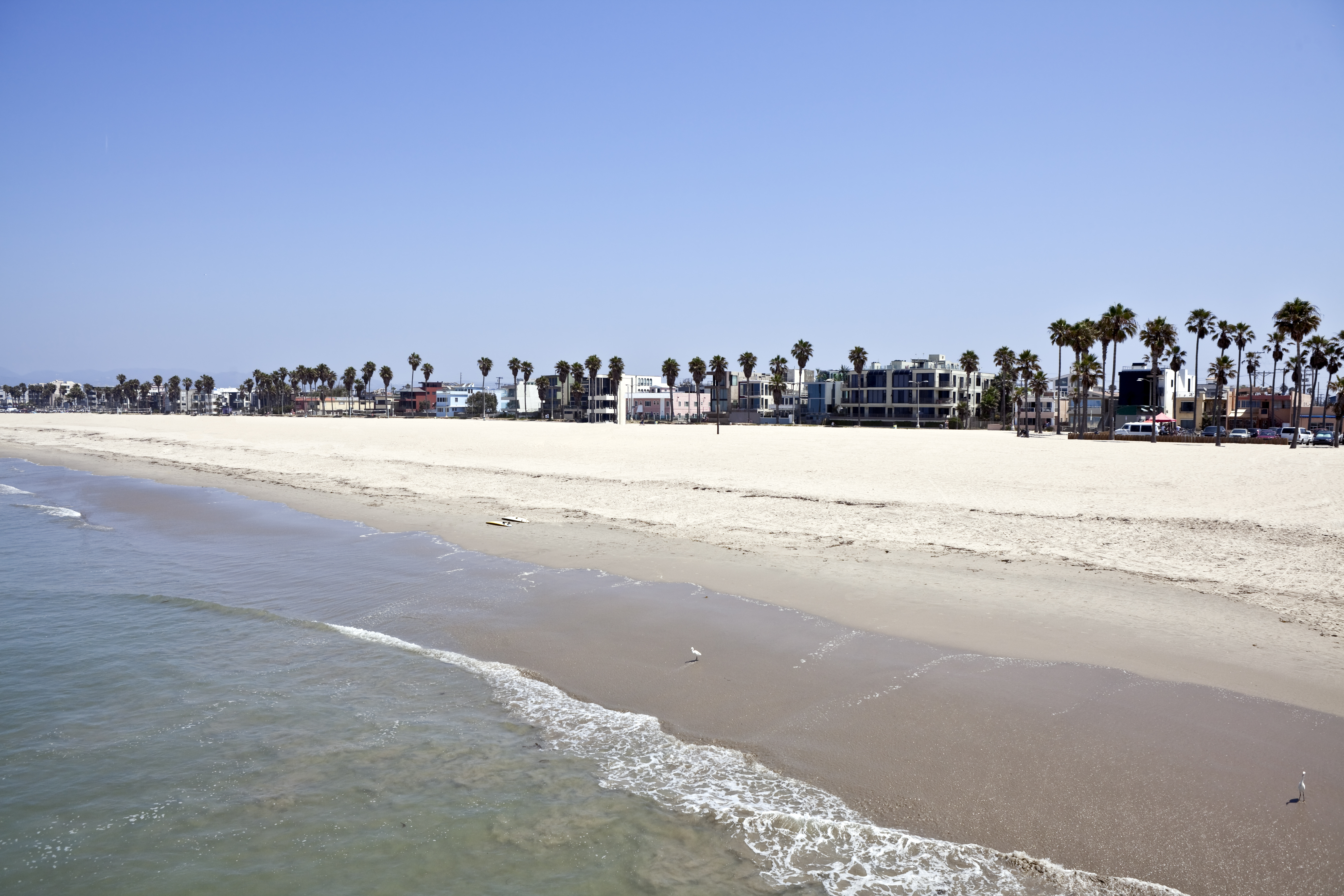 Famous Venice beach California. Viewed from the fishing pier.